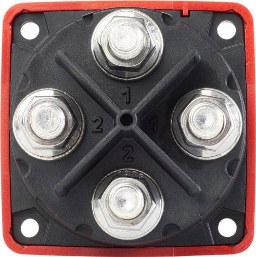 Blue Sea System - Huvudströmbrytare Mini Dual 300A Röd