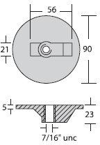- Zinkplade Alpha & Bravo 92 x 24 mm