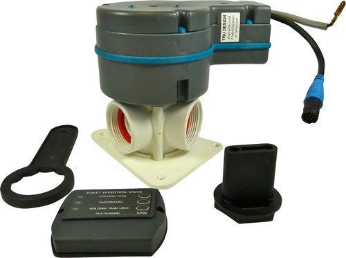 Tru-design - Elektrtisk Y-ventil 12V fjärrmanövrerad