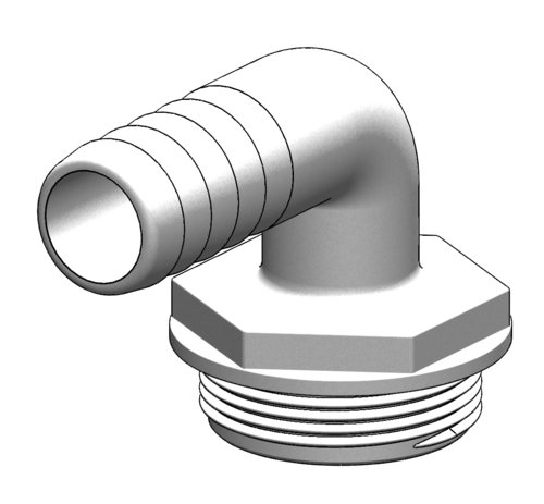 Tru-design - Slangsockel  vinklad Aquavalve