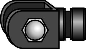 - Tillbehör till radarmast Ø80mm