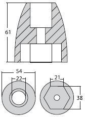 - Mercruiser Bravo 3 Cone Nut (2004+)