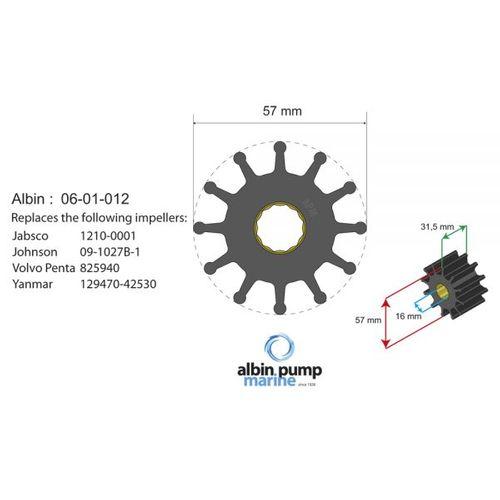 Albin Pump Marine - Impeller Albin Pump