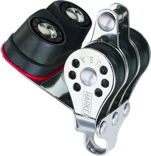 Harken - Micro Trippel blok med hundsvot og Cam Cleat 22 mm