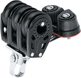 Harken - Trippelblok med Cam Cleat, Carbo Air 29 mm