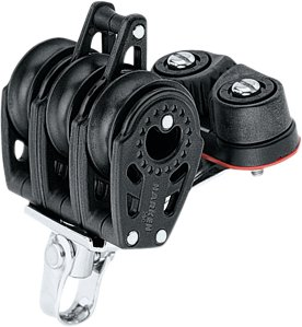 Harken - Harken trippelblok, Carbo Air 29 mm.