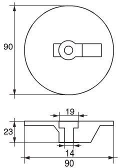 Martyr - Zink trimplatta ø90