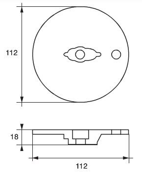 Martyr - Mercury Mariner zink Trimplatta ø112