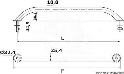 Osculati - Håndliste AISI 316