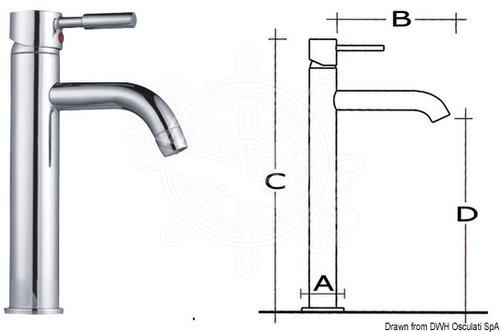 Osculati - Pentry/toalettkran, hög