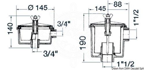 Osculati - Kylvattenfilter Utility