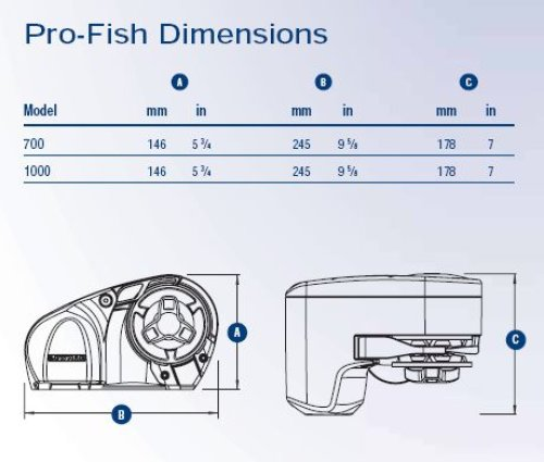 Lewmar - Lewmar ankkurivinssi PRO-FISH 1000