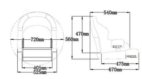 - Bådstol Flip-Up SD52