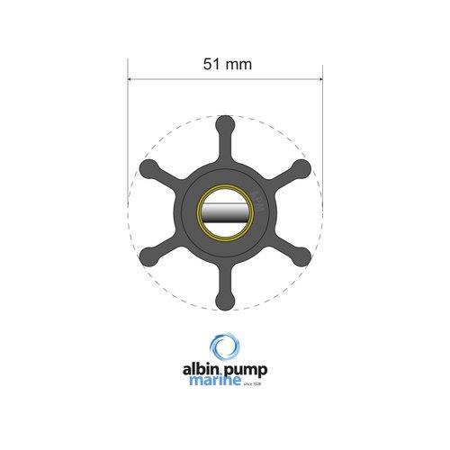 Albin Pump Marine - Impeller Albin pump 06-01-006