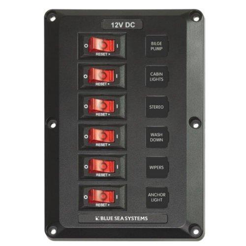 Blue Sea System - Säkringspanel automat 6 säkringar