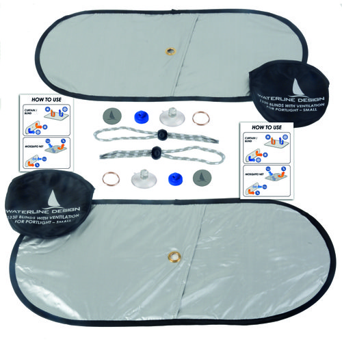 Waterline Design - Solskydd med ventilation för portlights - Waterline design