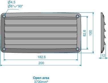Roca - Ventilgaller PVC