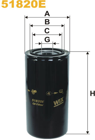 WIX Filtration - WIX Oliefilter 51820E