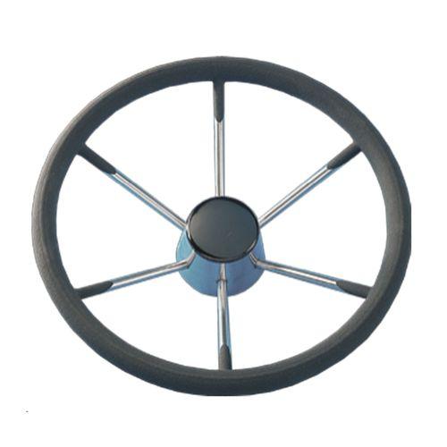 Båtsystem - Rostfri ratt WH34SS med klädsel 340 mm