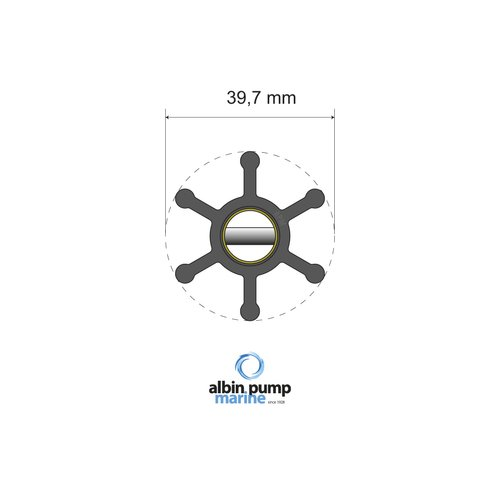 Albin Pump Marine - Impeller Albin pump 06-01-002
