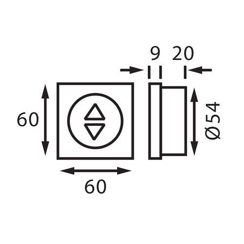 Båtsystem - Dimmer touch 12V/24V, 100W