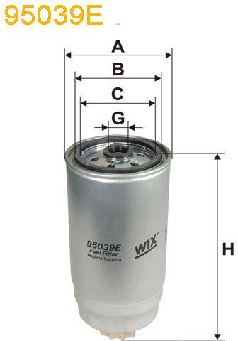 WIX Filtration - Bränslefilter 95039E