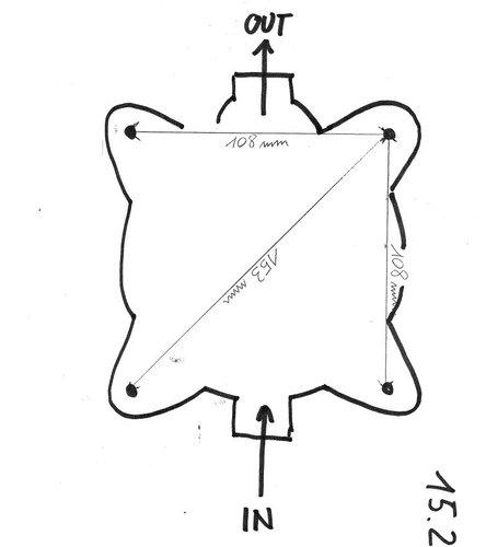 Osculati - Manuel lænsepumpe m. fast håndtag