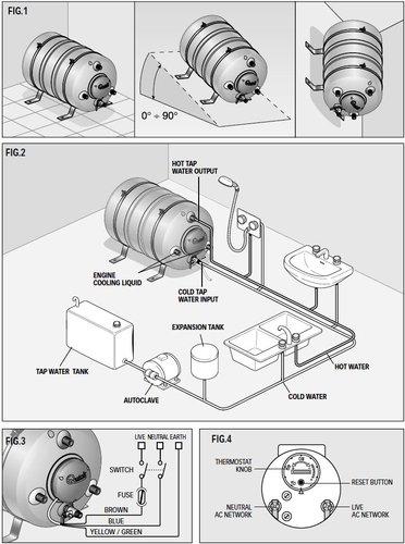 Quick - Varmtvandsbeholder, 15-60 Liter