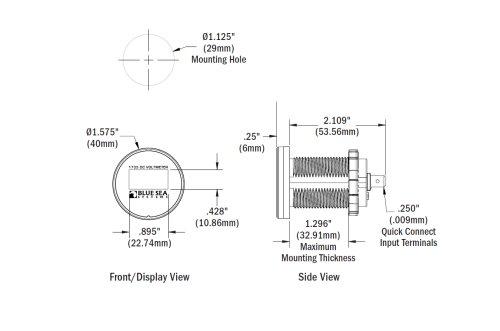 Blue Sea System - Batteriovervågning - Mini