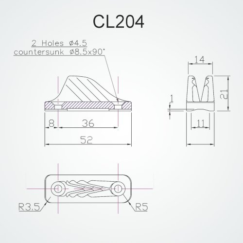 Clamcleat - CL 204 Mini