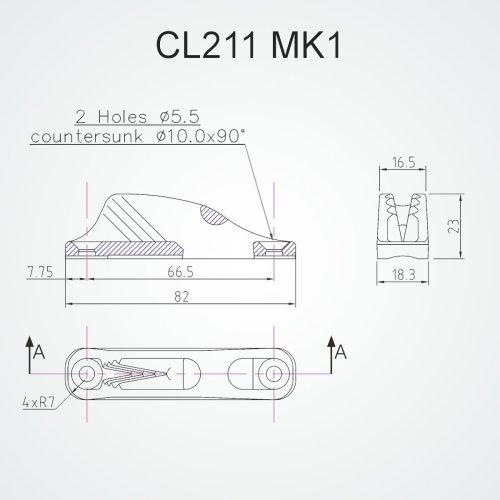 Clamcleat - Cl 211 mk1 racing junior