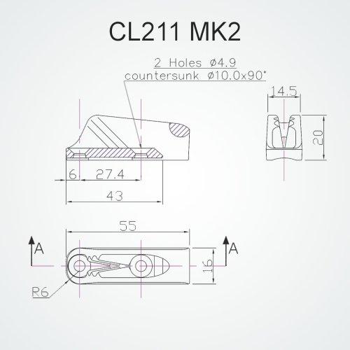 Clamcleat - Cl mk2 racing junior