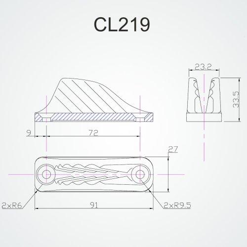 Clamcleat - CL 219 Racing vertikal