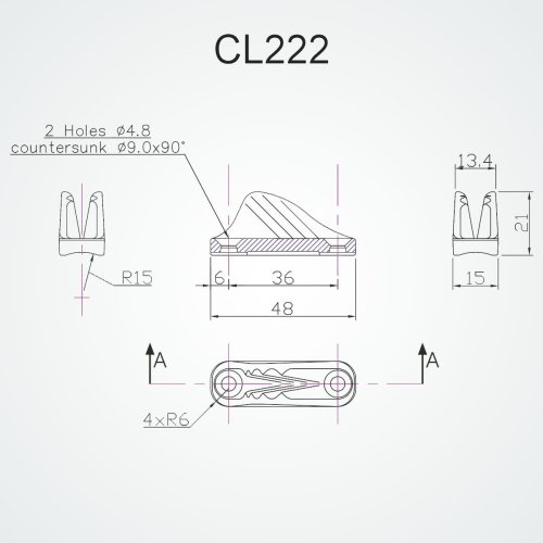 Clamcleat - CL 222 Racing miniI