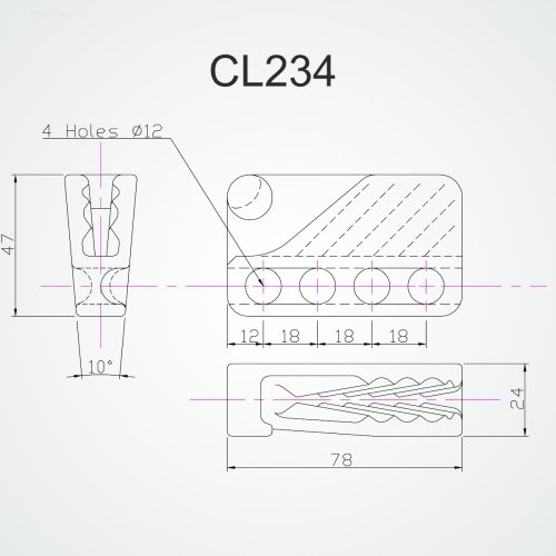 Clamcleat - Cl 234 fender cleat