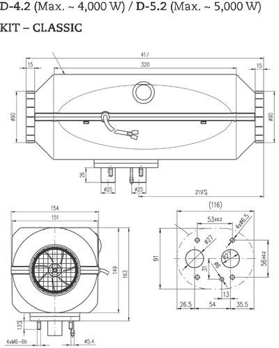 Aeroheat - Lydløs varme - Dieselvarmer - classic marinekit
