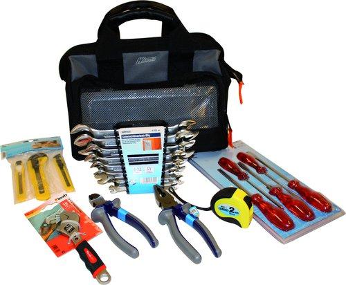 - Værktøjtaske med værktøj