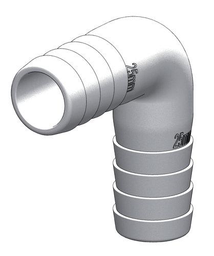 Tru-design - Slangkoppling 90°