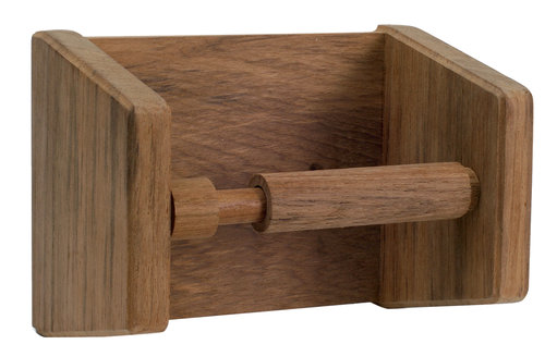Roca - Holder til toiletrulle, teak