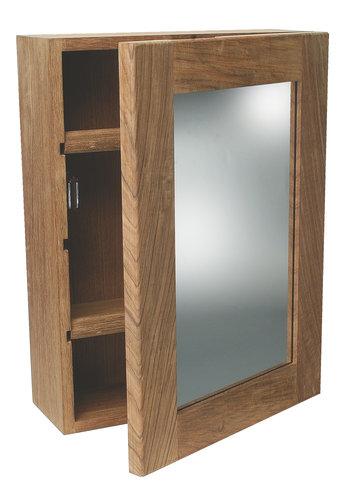 Roca - Toiletskab med spejldør, teak