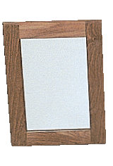 Roca - Spejl med teak ramme