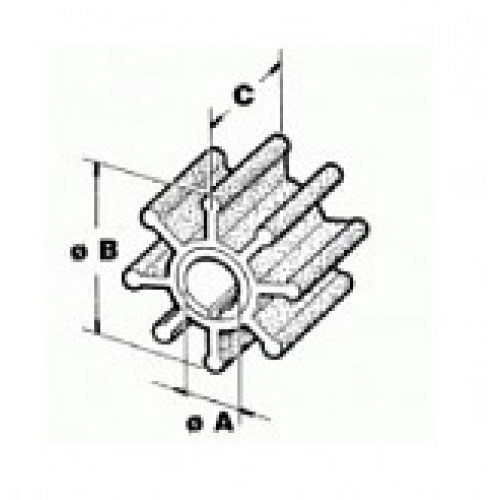 Recmar - Impeller t. Mercury - Mariner 3,9-6 Hk