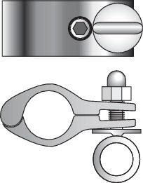 Båtsystem - Fäste med/utan öglebult