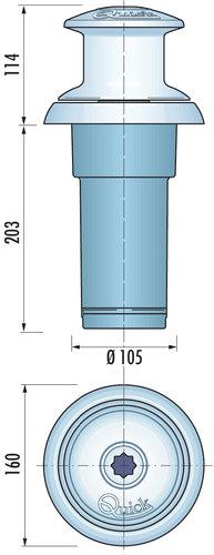 Quick -  Ankerspil Totem Vertikal spil 800 W