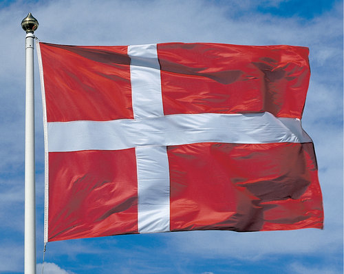 - Nationsflagga Danmark