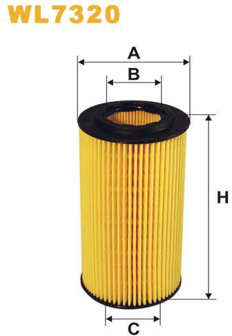 WIX Filtration - WIX Oliefilter WL7320