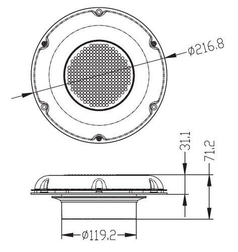 - SOLCELLSVENTILATOR RFR, 217mm