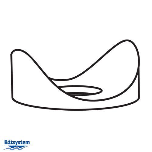 Båtsystem - Plastbricka till badplattform
