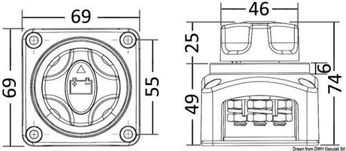 Osculati - Hovedstrømsafbryder