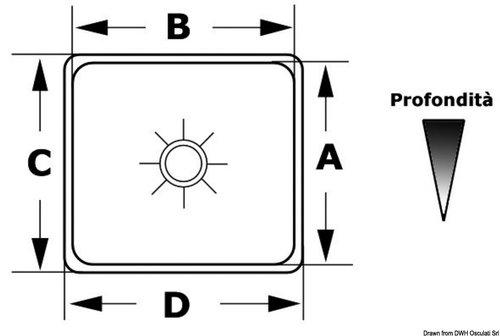 Osculati - Vask, Rektangulær